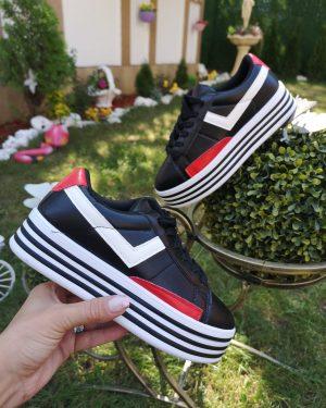 Обувка с платформа Black&White
