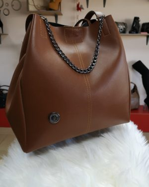 Сет Дамска чанта с класически обувки на ток Camel